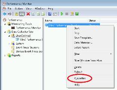 Data collector set settings