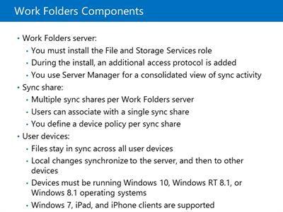 Work Folders Components