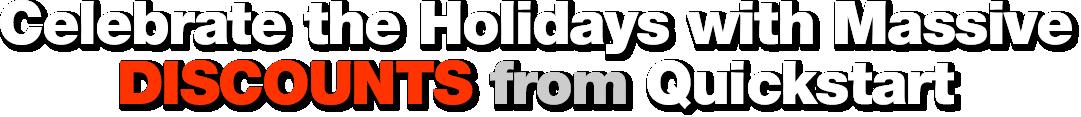 Quickstart Holidays Season Discounts