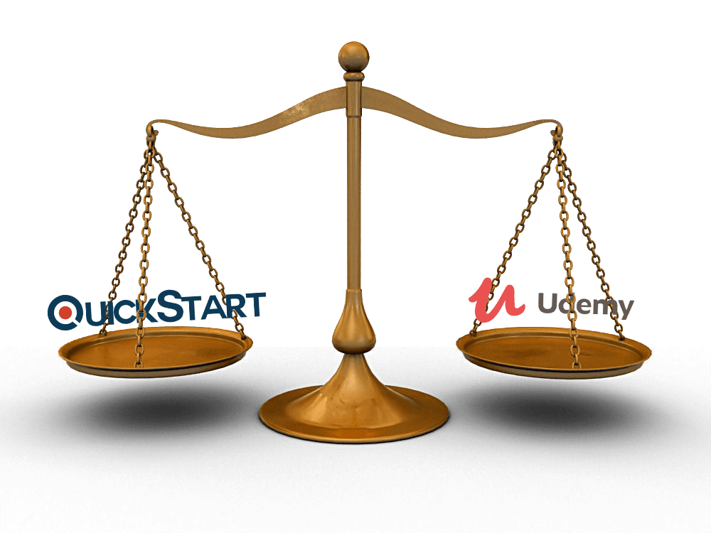 QuickStart, udemy, Udemy vs QuickStart, QuickStart vs udemy, training platform comparison