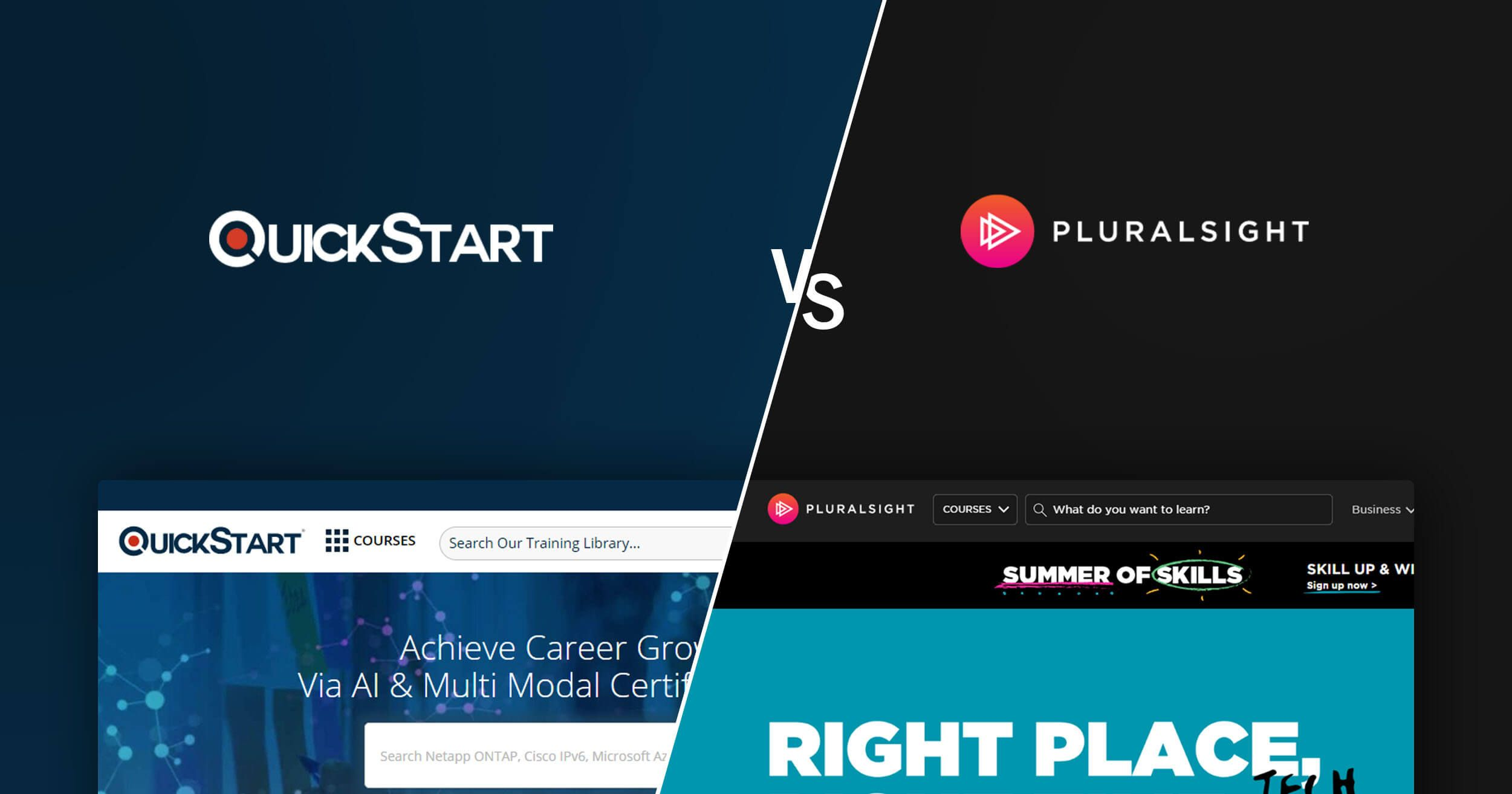 QuickStart vs PluralSight - A Factual Comparison