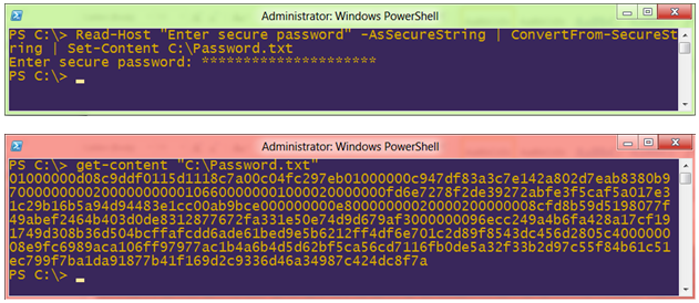 Windows PowerShell AsSecureString Command