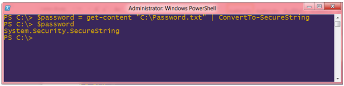Windows PowerShell System.Security.SecureString